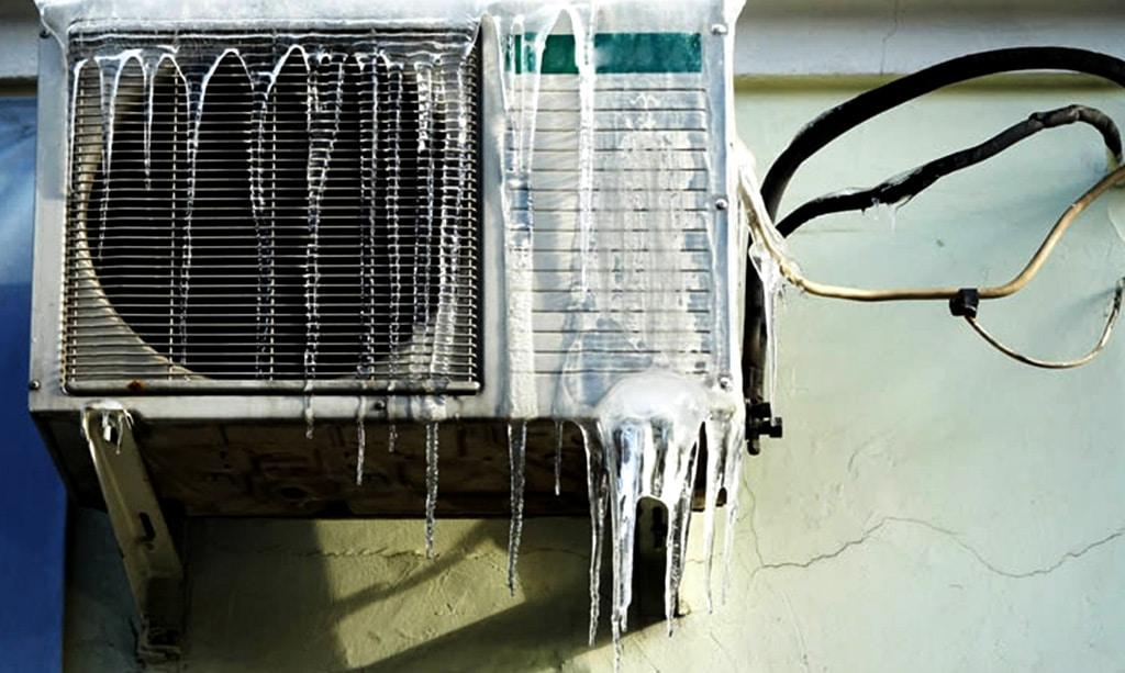 چرا کولر گازی یخ میزند