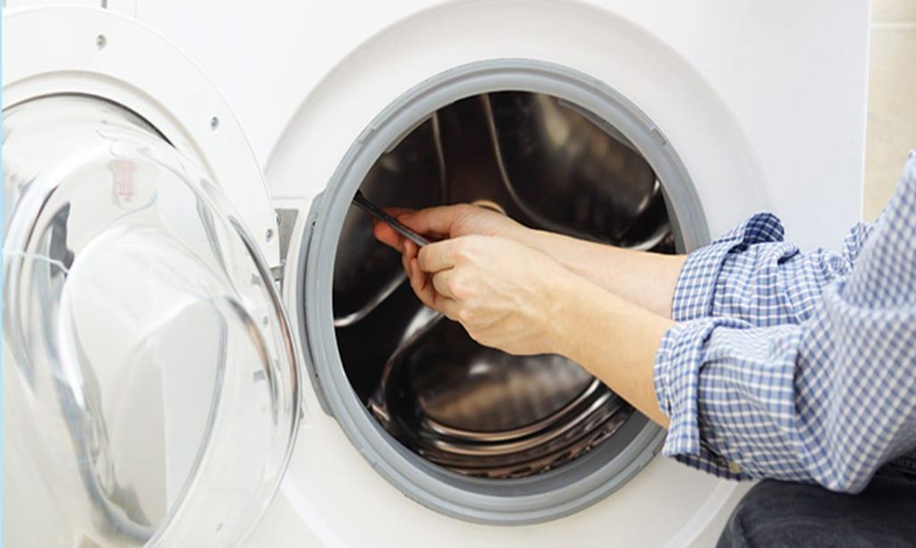 پارگی لاستیک ماشین لباسشویی